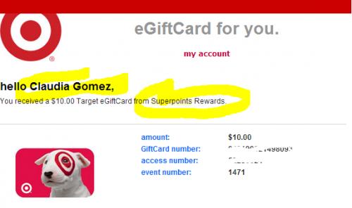 Gift Card de Target Gratis