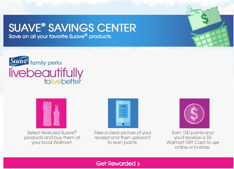 Suave® Savings Center