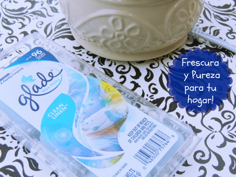 #SienteGlade con Glade® Clean Linen® scented Wax Melts